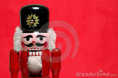 Nutcracker on red