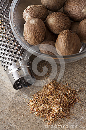 Nutmegs in a bowl