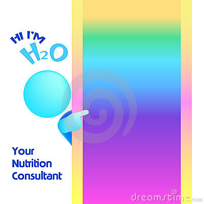 Nutrition Consultant Pointing Blank Illustration