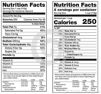 Free Nutrition Facts Labels Stock Images - 38326904