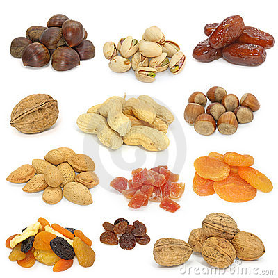 Free Nuts And Dried Fruits Collection Stock Photography - 4149252