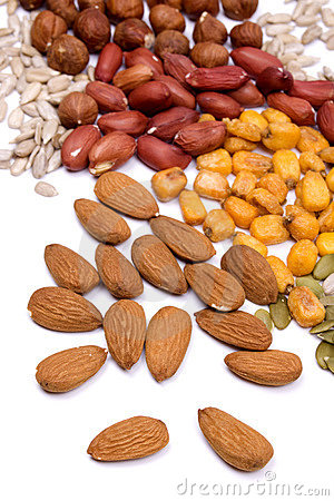 Free Nuts And Seeds, Healthy Snack Stock Photo - 9248830