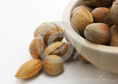 Nuts in basket