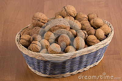 Nuts in a basket