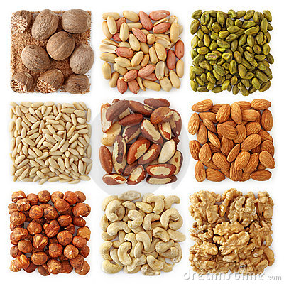 Free Nuts Collection Royalty Free Stock Photos - 18249928