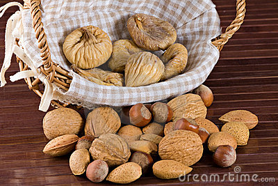 Nuts and dried figs