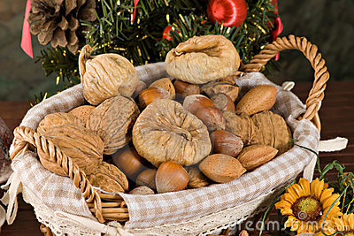 Nuts and dried figs (at Christmas)