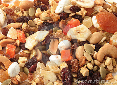 Nuts and fruits