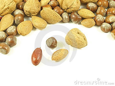 Nuts: hazelnuts,walnuts,almonds.