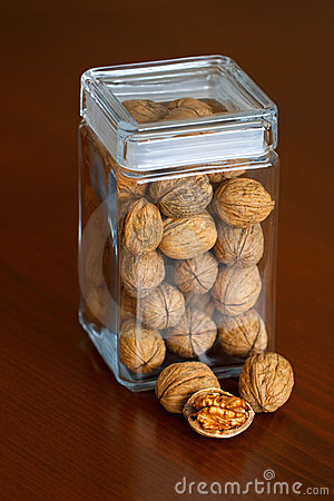 Nuts jar - walnut