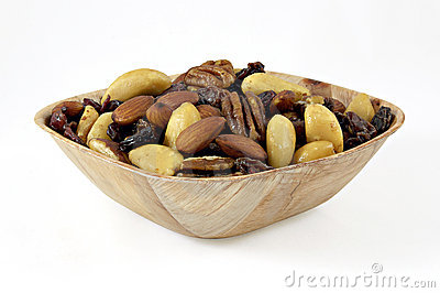 Nuts, raisins, figs and almonds