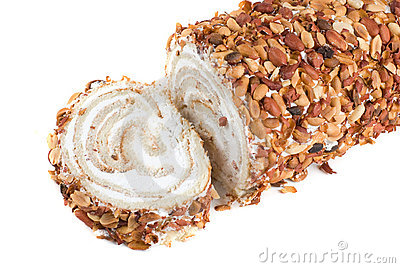 Nuts Swiss roll