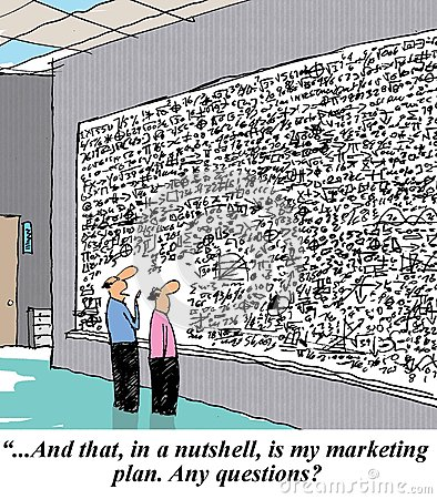 And that in a nutshell is my marketing plan