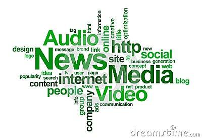 Nuvem da notícia e da palavra do â dos media