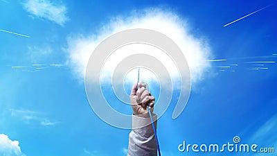 A nuvem - obstrua em dados grandes video estoque