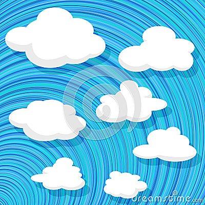 Nuvens do estilo dos desenhos animados