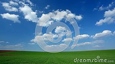 Nuvens do lapso de tempo no campo
