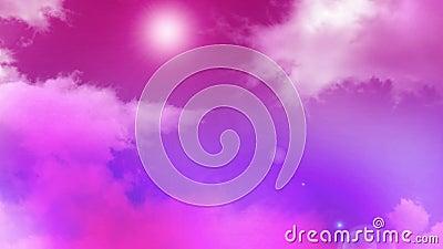 Nuvens 02 do rosa video estoque