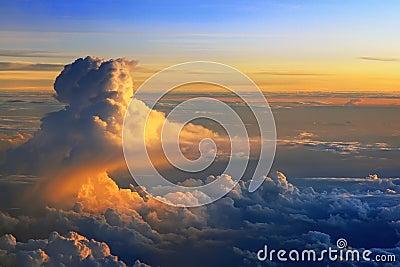 Nuvens surpreendentes.