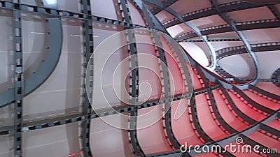 Nuvola Di Fuksas Roma Convention Center stock videobeelden