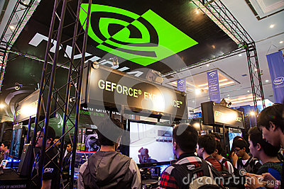 Nvidia in Indo Game Show 2013 Editorial Photography