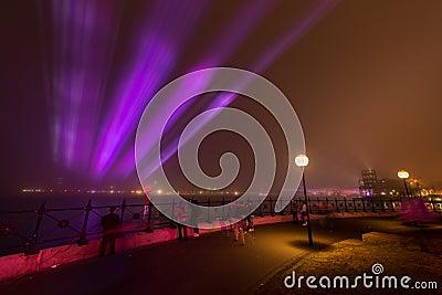 A névoa encobre o cais circular em Sydney. Imagem de Stock Editorial