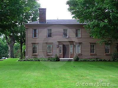 Ny gammal stil för kolonialt england georgian hus