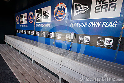 NY Mets Dugout Editorial Photography