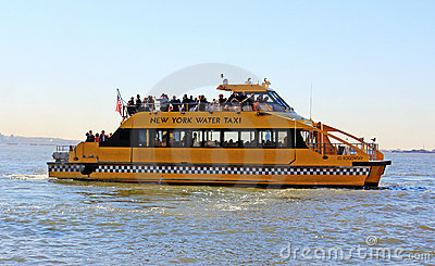 NY Water Taxi Editorial Stock Photo