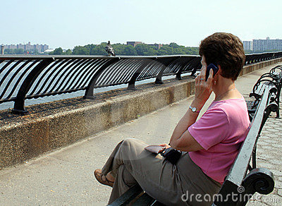 NY Woman on Mobile Phone