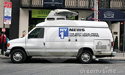 NY1 news Vehicle Editorial Image