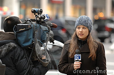 NY1 Reporter Editorial Stock Image
