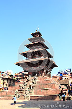 Nyatapola Temple In Nepal. Editorial Stock Image