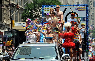 NYC: 2010 Gay Pride Parade Editorial Stock Photo