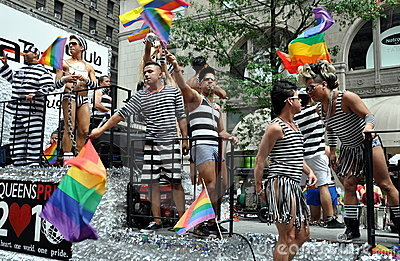 NYC:  2010 Gay Pride Parade Editorial Stock Image