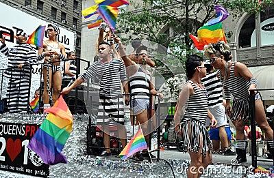 NYC:  2010 Gay Pride Parade Editorial Stock Image
