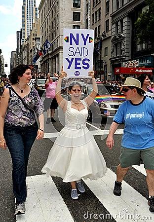 NYC: 2011 Gay Pride Parade Editorial Stock Photo