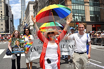 NYC: 2012 Gay Pride Parade Editorial Stock Image