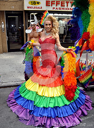 NYC:  2012 Gay Pride Parade Editorial Stock Photo