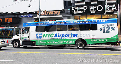 NYC Airporter Editorial Photo