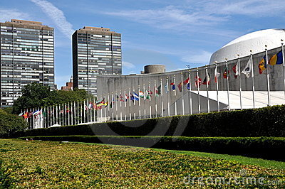 NYC: A assembleia geral Bldg de United Nations.