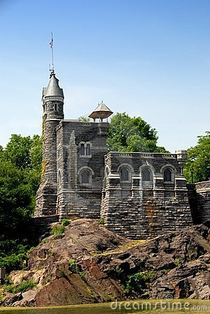 NYC: Belvedere Castle in Central Park Editorial Image