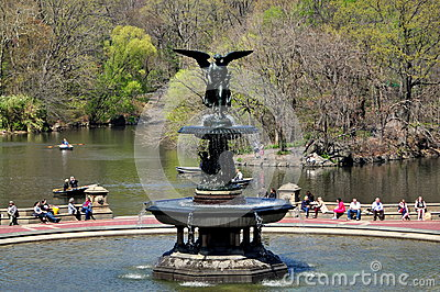 NYC: Bethesda Fountain in Central Park Editorial Photo