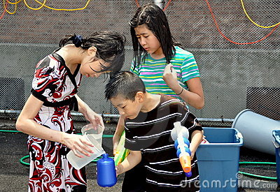 NYC: Burmese Water Festival Editorial Image
