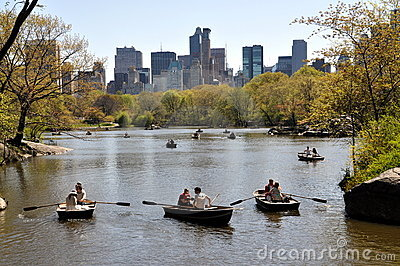 NYC: Central Park Boating Lake Editorial Photography