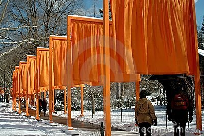 NYC: Christo s The Gates in Central Park Editorial Photo