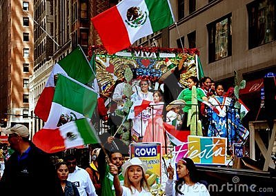 NYC: Colourful Float at Mexican Parade Editorial Image