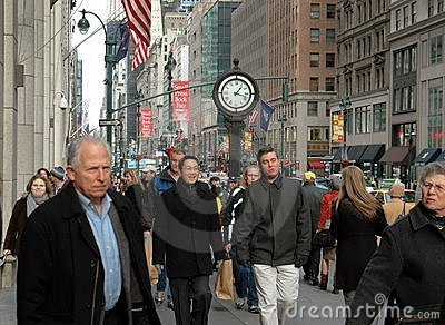 NYC: Crowds of People on Fifth Avenue Editorial Photo