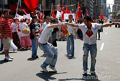 NYC: Dancers at Turkish Parade Editorial Stock Photo