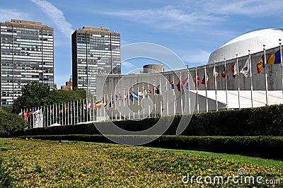NYC: El edificio de la Asamblea General de Naciones Unidas.